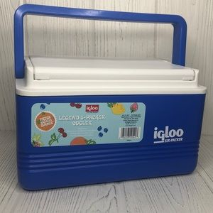 Igloo 6 Packer Beverage Lunch Box Cooler NEW Blue